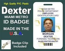 DEXTER ID Badge / Card (DEXTER MORGAN) Miami Metro Police ID - PVC PLASTIC - USA