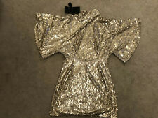 arrogant cat dress Gold Sequin Small - - Christmas Party - Amazing Back To Dress