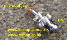 adaptor, adapter, BNC, male plug to Microdot female jack, CH-BP-MDJ