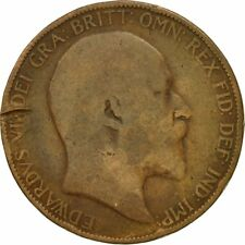 [#546161] Coin, Great Britain, Edward VII, Penny, 1906, VF(20-25), Bronze