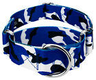 Country Brook Petz® 1 1/2 Inch Royal Blue and White Camo Martingale Dog Collar