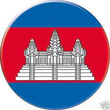 5 x sticker 5cm auto moto velo valise pc portable drapeau Rond Cambodge-Cambodia