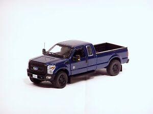 "Ford F250 Super Cab 8 Ft Bed - ""BLUE"" - Black Wheels 1/50 - Sword #SW1100Bb"