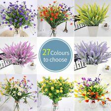 Flores Artificiales Ramo Banquete de Boda Decoración Lavanda Falso Hierba 27 Colores
