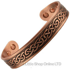 XL COPPER MAGNETIC BANGLE CELTIC KNOT Design 6 Strong Magnets Health Rare Earth