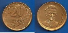 Greece 20 Drachmes 1990 Dionysios Europe Coin Free Shipping Worldwide