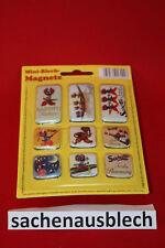 Sarotti Mohr Magnetset 9 Magnete im Set  Magnet Mohren Schokolade Blechschild