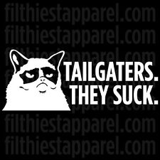 """GRUMPY CAT """"Tailgaters. They Suck."""" Meme Funny Angry Cat Vinyl Decal Sticker"""