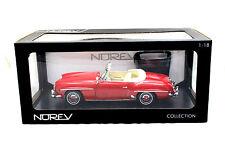 NOREV 1957 MERCEDES BENZ 190 SL RED 1/18 DIECAST CAR 183537