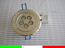 10 PROYECTORES EMPOTRABLE LED 5X1w 5w BLANCO FRÍO 220v