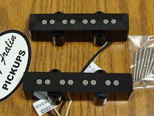 NEW Lindy Fralin Stock Jazz Bass PICKUP SET Black for Fender J Bass