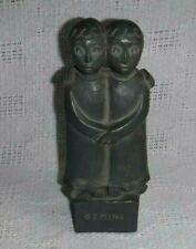 Vintage FRED PRESS ZODIAC Sculpture GEMINI Mid-Century Modern Cast Resin