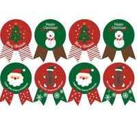 8pcs Santa Claus Snowman Christmas Badge Sticker Packaging Stickers Xmas Decor