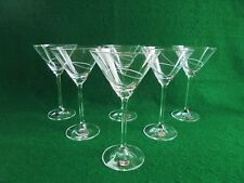 BOHEMIA DISTINCTION HAND CUT CRYSTAL COCKTAIL GLASSES NEW IN BOX SET OF 6