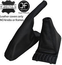 Black Stitch Top Grain Leather Shift E Brake Boot Fits Vw Golf Jetta Mk2 82 91