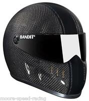 BANDIT XXR HELMET CARBON RACE BLACK STRIPE STREETFIGHTER HELMET