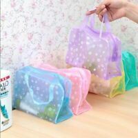 Cosmetic Makeup Bag Toiletry Clear PVC Travel Wash Organizer Zip Swimming Pouch