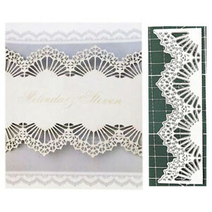 Christmas Lace Border Metal Cutting Dies Stencils Scrapbooking Paper Cards Craft
