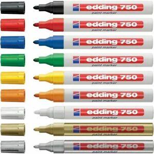 Edding 750  Paint Marker Pens Bullet Tip, Low Odour - 2-4mm Line 14 colours