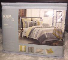 NEW Kas ROOM Logan Twin Duvet Cover 68 x 90 Cotton $100 Casual Classy NIP Stripe