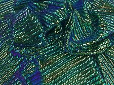 Metatron White Multicolor Hologram Mermaid Fish Scales-2 Way Stretch Spandex-by