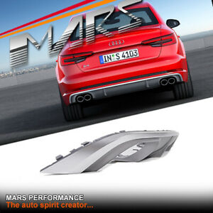 S4 Look Twin Exhaust outlet Diffuser & Mesh for AUDI A4 B9 Standard Bumper 16-18