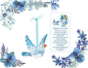 Bluebird Ornament #6006057 Enesco with Charm & Story Card~Acrylic~Happiness~