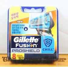 Genuine Gillette Fusion Flexball Proshield CHILL Razor Blades-8 Refill Cartridge