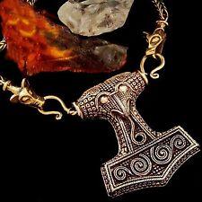 HAMMER Thor Kette Bronze Wikinger Viking necklace LARP