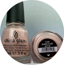 China Glaze Nail Polish Always A Lady 1144 Light Pink Cream French Lacquer