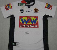 DARREN LOCKYER  Hand Signed 2009 Brisbane Broncos Jersey + Photo Proof