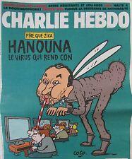 CHARLIE HEBDO No 1229 de FEVRIER 2016 TELEVISION HANOUNA LE VIRUS QUI REND CON