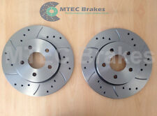 Mondeo Drilled Grooved Rear Brake Discs mk3/4 ST220