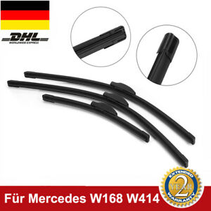 Scheibenwischer Komplett Set für Mercedes-Benz A-Klasse W168 W414 vorne+hinten