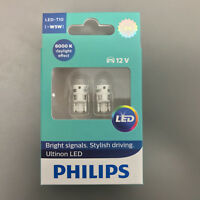 PHILIPS stylish driving Cool LED White 6000K 360  T10 501 W5W CAR BULBS