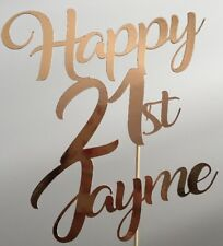 Personalised Custom Birthday Party Cake Topper Twenty One 21st Add Your Name Age