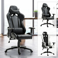 Gaming Office Chair Racing Reclining Seat Swivel Adjustable Home Office