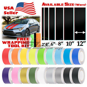 Matte Color Racing Stripes Vinyl Wrap Decal For Toyota Corolla Stripe 10FT /20FT