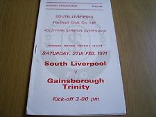 SOUTH LIVERPOOL v GAINSBOROUGH TRINITY Northern Premier League 1970-71