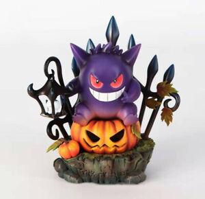 New Halloween pumpkins decorated garden ornaments resin crafts Pokémon Gengar