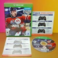 NHL Hockey 18 - EA Sports -  Microsoft Xbox One Game - Tested ! XBOX 1
