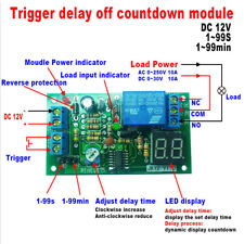 DC12V LED Modulo Temporizzatore Timer Delay Regolabile OFF Relay Switch Module