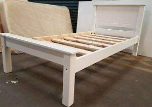 bespoke pine bed WHITE comes with extra strong bed slats