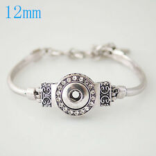 Silver Button Interchangeable 12mm Petite Fits Ginger Snaps Mini Snap Bracelet
