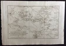 1821 CARTE CHAMPAUBERT MONTMIRAIL CHATEAU-THIERRY SEZANNE original map Napoleone