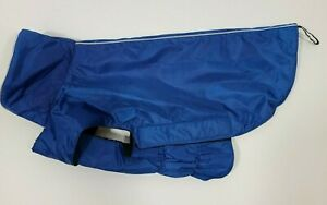 NEW Dog Jacket. Wind & Water-resistant, Easy Put-On - Stretch, Size L - Blue