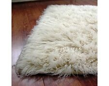 FLOKATI WOOL RUG SHAGGY HAND MADE 140x 180cm