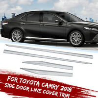 Chrome Door Body Side Molding Line Cover Trim fit for 2018 2019 Toyota Camry