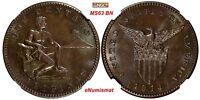 Philippines U.S. Administration Bronze 1914 S 1 Centavo NGC MS63 BN KM# 163