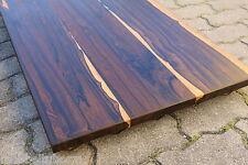 Tischplatte Regalbrett Platte Zirikote Massiv Holz Leimholz Brett mit Baumkante